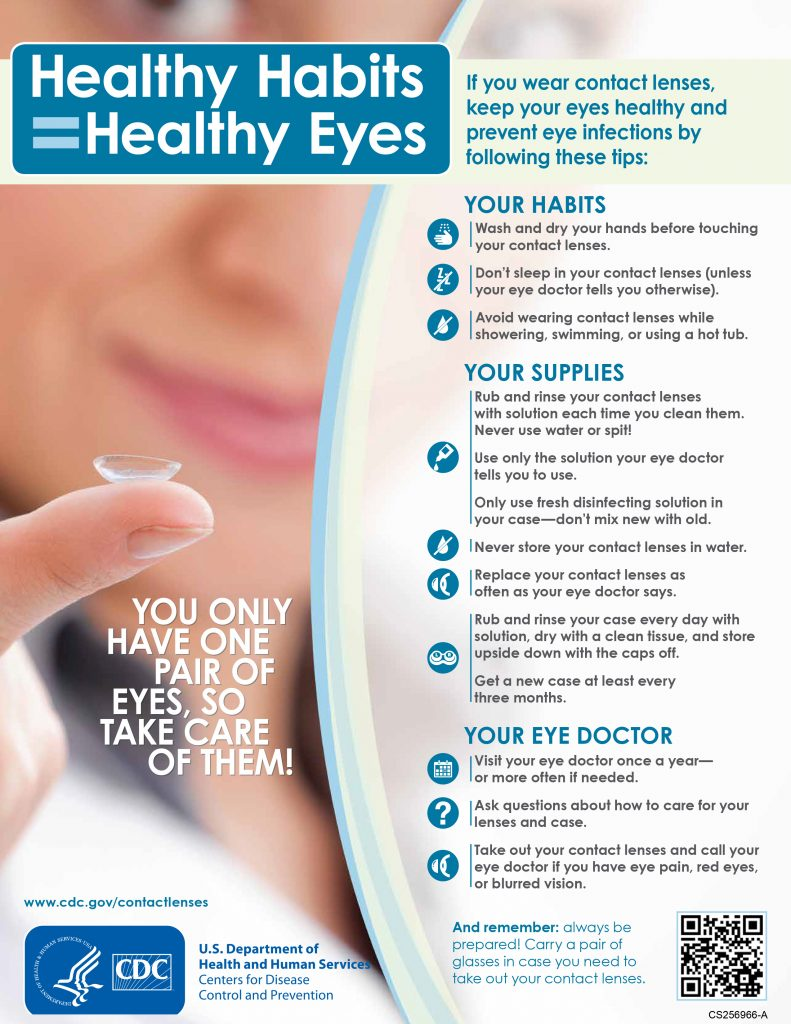 6cf2209c30 The best thing you can do to avoid contracting any of these infections is proper  lens care. Follow your lens regimen and instructions carefully and always  ...